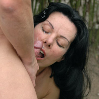 Witness how one of sexiest moms fucking son outdoors